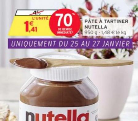 Extrait du prospectus de promotion sur le Nutella